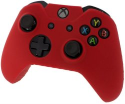 Assecure Pro Soft Silicone Protective Cover With Ribbed Handle Grip - Red Xbox One