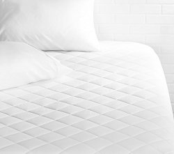 "AmazonBasics Hypoallergenic Quilted Mattress Topper 18"" Deep Twin"