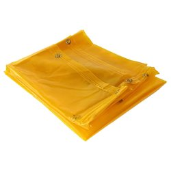 Pinnacle Welding Curtain Yellow With Eyelets - 2M X 2M