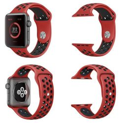 Killerdeals Silicone Strap For 42MM Apple Watch - Black & Red