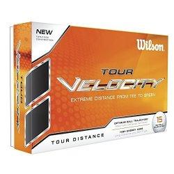 Wilson Tour Velocity Distance Golf Ball 15-PACK White