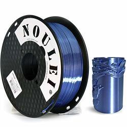 Noulei Shiny Pla 3D Printing Filament 1.75MM Silk Silver Blue For 3D Printer And 3D Pen 1KG 1 Spool + -0.02MM