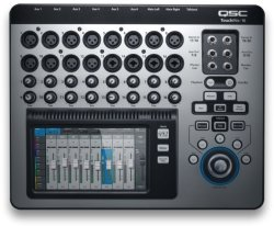 QSC TOUCHMIX-16 Touchmix Series 22-CHANNEL Digital Mixer With Bag Silver And Black