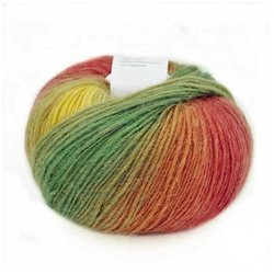 Qinghe County Cashmere Products Trade Co., LTD Celine Lin One Skein 100% Wool Colorful Rainbow Hand Knitting Yarn 50G MULTI-COLORED15