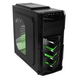 Raidmax Vortex 402 V4 Mid Tower Gaming Chassis & Green Black