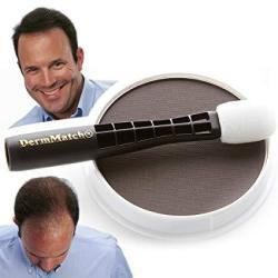 DermMatch Waterproof Hair Loss Concealer. Naturally Thicker Than Hair Fibers & Spray Concealers. Dark Brown