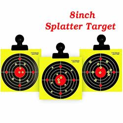 "PAPER 8"" Reactive Splatter Targets For Shooting Shots Burst Bright Yellow Shooting Targets- Fits Metal Box Bb Catcher Target Holder Pellet Trap For Air"
