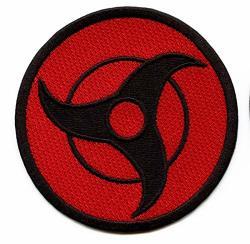 Anime Itachi Sharingan Logo Embroidered Iron On Patch