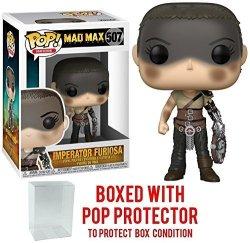 Funko Pop Movies: Mad Max Fury Road - Imperator Furiosa Vinyl Figure Bundled With Pop Box Protector Case