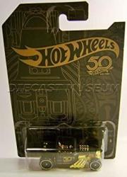 USA Hot Wheels 2018 50TH Anniversary Black & Gold Series 1 64 Scale Diecast Model Bone Shaker