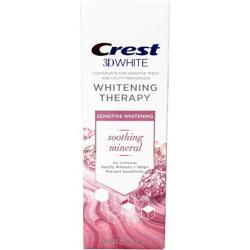 Crest 3D White Whitening Therapy Sensitivity Care Fluoride Toothpaste