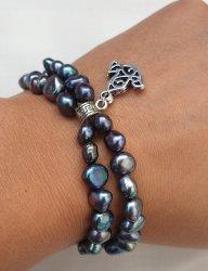 Black Fresh Water Pearl Bracelet