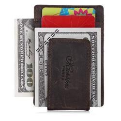 Minimalist Credit Card Wallet Front Pocket Slim Business Card Holder & Money Clip Slim Wallet Rfid Blocking For Men