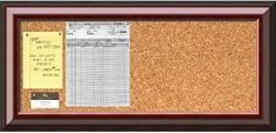 USA Mahogany Cork Board - Panel' Message 34 X 16-INCH Black Red Wood