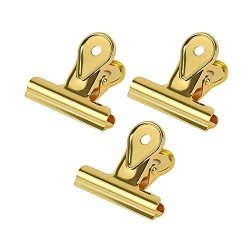 Leepus Paper Metal Bulldog Clip Hinge Clips Clamps For Documents Files Pictures Home Office