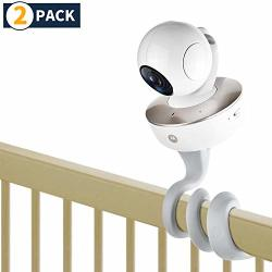 Itodos Baby Monitor Mount For Arlo Motorola Baby Monitor And Most Universal Monitors Camera Versatile Twist Mount Without Tools Or Wall Damage - 2 Pack
