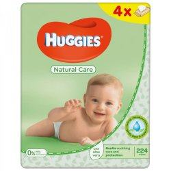 Huggies Natural Care Quad Wipes 4X56S