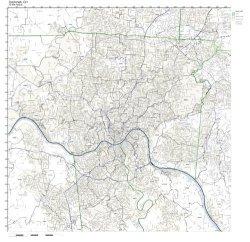 Working Maps Cincinnati Oh Zip Code Map Laminated