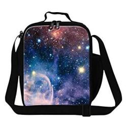GiveMeBag Give Me Bag Generic Galaxy Printed Lunch Bags For Kids Insulated Lunch Box Cooler For Adult