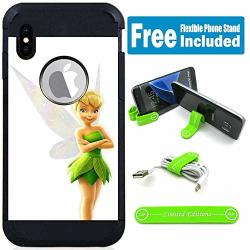 Limited Editions For Apple Iphone Xr Defender Rugged Hard Cover Case - Tinkerbell White G