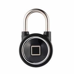 Xcsource Smart Fingerprint Bt Door Lock Keyless Smartphone App Control Padlock Door Cabinet Warehouse Anti-theft Lock AH489