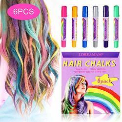 Hair Chalk 6 Colors Hair Chalk Pens Chalk Hair Dye Colored Hair Chalks For  Party Cosplay Theater Halloween Makeup | R | Haircare | PriceCheck SA