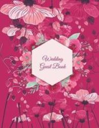 wedding guest book pink color floral address book with birthdays