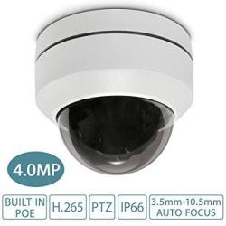 LEFTEK Dome Camera Ultra HD 4 0 Mp 2592X1520 Pixel MINI Poe Ptz Camera 3X  Zoom 3 5-10 5MM 65FT Ir Distance 2 5