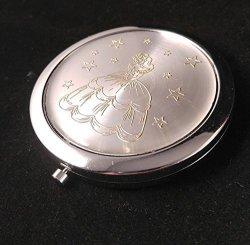 China Quinceanera Favors Sweet 16 Double Compact Mirror Set Of 12 Silver Gold Princess Recuerdos De Quinceanra Espejos