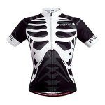 WOSAWE Mens Breathable Cycling Jersey Skeleton L