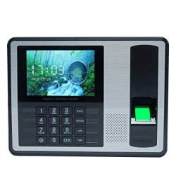 Aibecy Biometric Fingerprint Password Attendance Machine Employee Checking-in Recorder 4 Inch Tft Lcd Screen Dc 5V Time Attendan