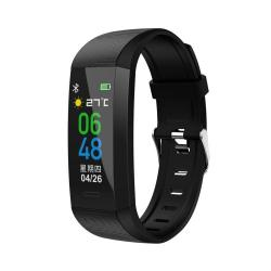 S03 0.96 Inch Tft Touch Screen IP67 Waterproof Smart Bracelet Support Sleep Monitor Heart Rate Monitor Blood Pressure Monitoring Black