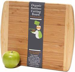 Medium-large Wood Cutting Board : 14.5 X 11.5 Inches - Lifetime Replacement Bamboo Cutting Boards For Kitchen - Just The Right S