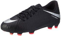 Nike Junior Hypervenom Phade III Fg Football Boots 852580 Soccer Cleats UK 3.5 Us 4Y Eu 36 Black Metallic Silver 001
