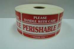 Labels And More Inc. 1 Roll Of 500 2X3 Perishable Handle With Care Shipping Mailing Labels Stickers