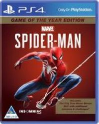 Sony Marvel& 39 S Spider-man - Game Of The Year Edition Playstation 4