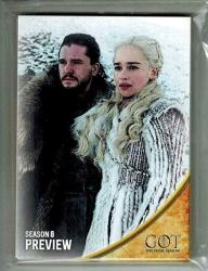 2019 Hbo Game Of Thrones Season 8 Preview 13 Card Preview Set Factory Sealed