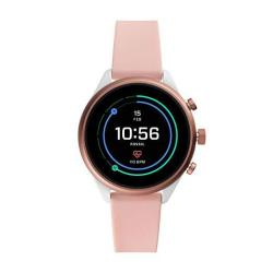 Women's Fossil Gen 4 Sport Heart Rate Metal And Silicone Touchscreen Smartwatch Color: Pink FTW6022