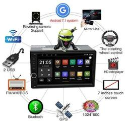 Android Upgraded 7 1 Quadcore Cpu 7 Inch Touch Screen Double Din Car Stereo  In Dash Gps Navigation Headunit Wifi Bluetooth Car R | R5206 00 |