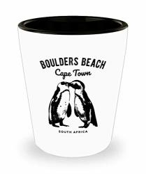 Cape Town Shot Glass South Africa Boulders Beach Penguin Gift