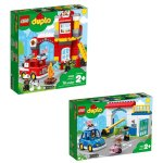 Lego Duplo Fire & Police Station Gift Bundle - 2+ Years - 10902 & 10903