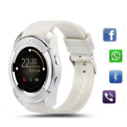 TKSTAR Smart Watch Bluetooth V8 Round Touch Screen Ips Sport Watches Sim Tf Card With Camera Sleep Monitor Calorie Smart Wrist Watch For Android