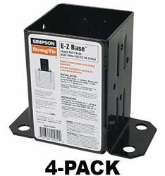 Simpson Strong Tie Black Powder-coated 12-GAUGE E-z Base 4-PACK