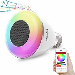 Bluetooth Speaker Light Bulb Haofy 6W Smart Wireless App Control Stereo Music Lamp Colorful Rgb Lights For Indoor Outdoor