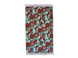 Beach Towel Protea Blue