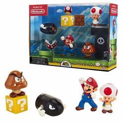 """Nintendo Super Mario Acorn Plains 2.5"""" Figure Multipack Diorama Set"""
