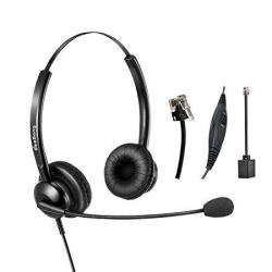 BeeBang Wired Telephone Headset Binaural Call Center RJ9 Headset With  Microphone Noise Cancelling For Landline Phone Avaya Plant | R1103 00 |  Handheld