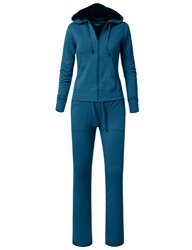 NE People Womens Casual Hoodie And Sweatpants Basic Tracksuit Set S-3XL