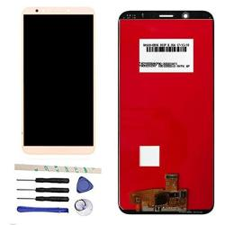 New Lcd Touch Screen Assembly Compatible With Huawei Y7 2018 LDN-L01 LDN-LX3 Y7 Prime 2018 LDN-LX1 LDN-L21 LDN-L22 Y7 Pro 2018 Nova 2 Lite With Frame Black + Adhesive + Tools