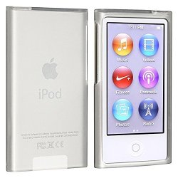 Eforcity Insten Tpu Rubber Skin Case Compatible With Apple Ipod Nano 7TH Generation Frost Clear White